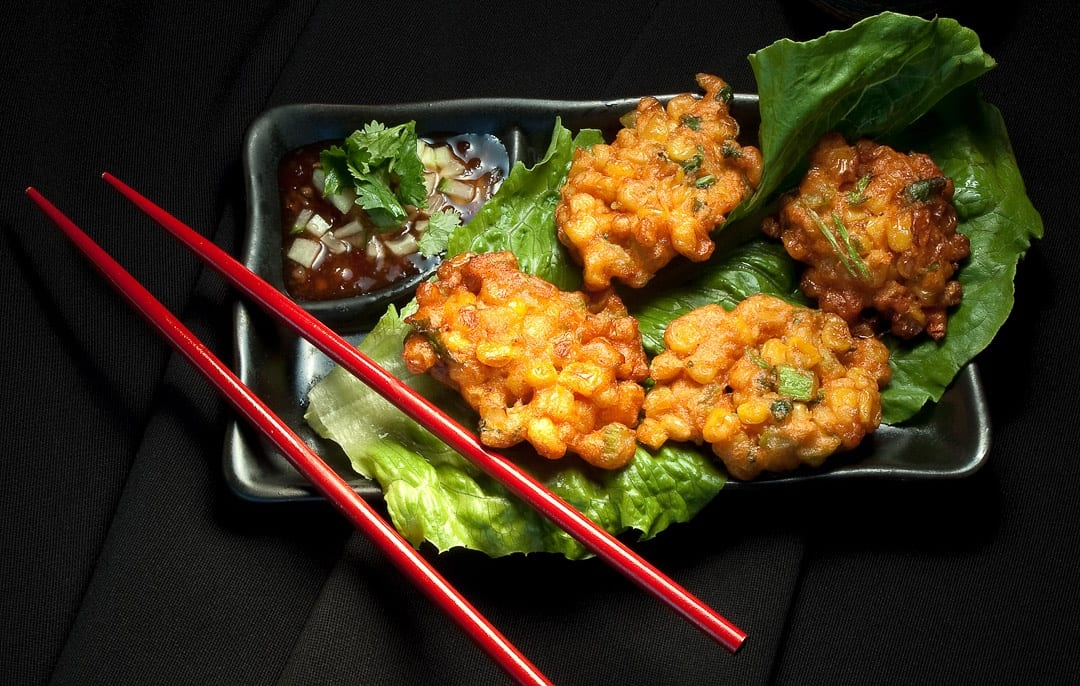 Crab Curry and Corn Fritters Feast